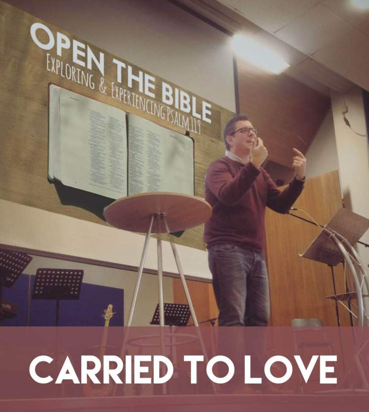 "Jonathan Preaching a sermon entitled ""Carried to Love"""